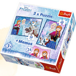 PUZZLE 2W1+MEMOS FROZEN SIOSTRY