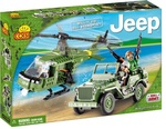 Klocki jeep Willys with helicopter