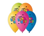 "Balony ""Happy Birthday"" preium hel 13""/ op. 5szt"